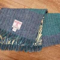 Handwoven Harris Tweed Green Blue Scarf thumbnail