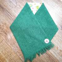 Handwoven Harris Tweed Plain Green Neckwarmer thumbnail