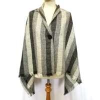 Handwoven Harris Tweed Natural Grey Shawl thumbnail