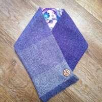 Handwoven Harris Tweed Lilac Neckwarmer thumbnail