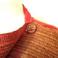 Handwoven Harris Tweed Autumnal Shawl thumbnail