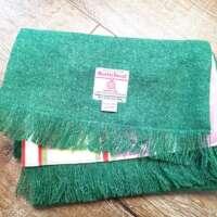 Handwoven Harris Tweed Scarf in Green thumbnail