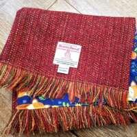 Handwoven Harris Tweed Scarf in Red thumbnail